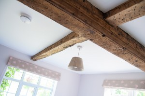 Quails room oak beams