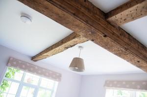 Quails room oak beams